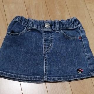 ダブルビー(DOUBLE.B)のMIKIHOUSE デニム スカート 90(スカート)