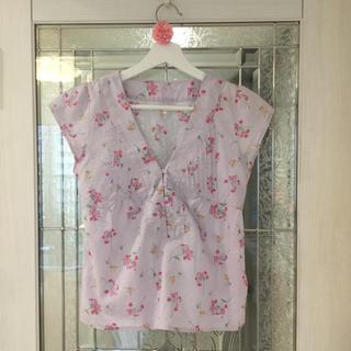 ギャップ(GAP)のGAP 花柄 ブラウス Sサイズ(シャツ/ブラウス(半袖/袖なし))