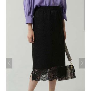 ローズバッド(ROSE BUD)のローズバッド フラワーレーススカート(ひざ丈スカート)