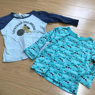 サマンサモスモス(SM2)の薄手のロンT 2枚 サイズ95(Tシャツ/カットソー)