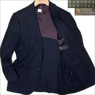バーニーズニューヨーク(BARNEYS NEW YORK)のJ4014美品 バーニーズニューヨーク デルフィーノカシミヤ混ジャケット紺46(テーラードジャケット)