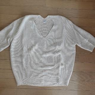 ユニクロ(UNIQLO)のユニクロ 3Dコットンセーター七分袖(ニット/セーター)