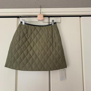マーキュリーデュオ(MERCURYDUO)のキルティングパイピングスカート(ミニスカート)