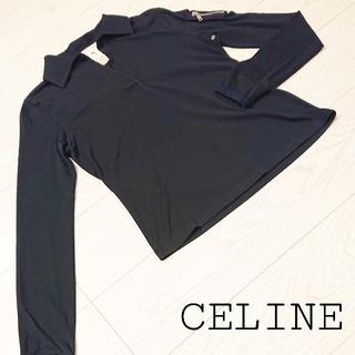 セリーヌ(celine)のイタリア製 CELINE セリーヌ レディース 長袖スキッパーシャツ サイズS(カットソー(長袖/七分))