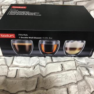 bodum - ボダム PAVINA ダブルウォールグラス6個セット 新品未使用