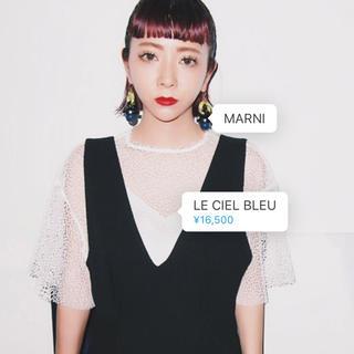 ルシェルブルー(LE CIEL BLEU)のルシェルブルー  メッシュレーストップス(カットソー(半袖/袖なし))