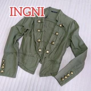 イング(INGNI)のナポレオンジャケット イング カーキ M(ノーカラージャケット)