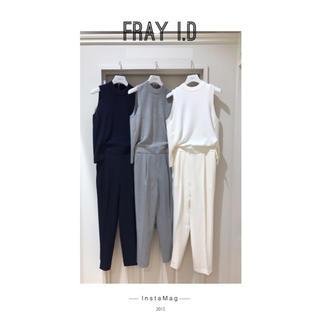 フレイアイディー(FRAY I.D)の新品♡フレイアイディ♡ ノースリーブニットコンビコンビネゾン(オールインワン)