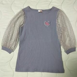 ジェニィ(JENNI)のJENNI 袖チュールトップス 150(Tシャツ/カットソー)