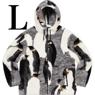 シュプリーム(Supreme)の【Supreme】Penguins Hooded Fleece Jacket L(ブルゾン)