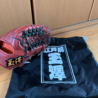 タマザワ(Tamazawa)の玉澤 軟式グローブ 外野用 グラブ袋付き(グローブ)