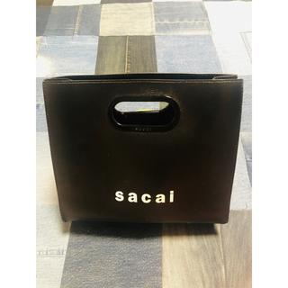 サカイ(sacai)のsacai ショッパーバッグ ブラック(ハンドバッグ)