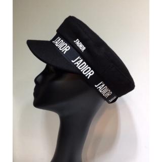 ディオール(Dior)のDior J'ADIOR ロゴ ウール キャップ ブラック(キャップ)