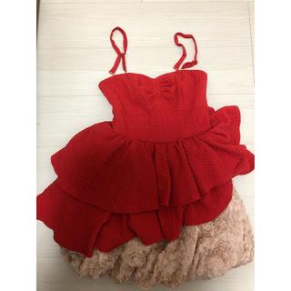リリーブラウン(Lily Brown)のリリーブラウン 赤 ドレス(ミニドレス)