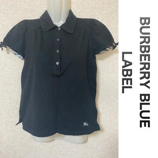 バーバリーブルーレーベル(BURBERRY BLUE LABEL)のバーバリー ブルーレーベル 半袖 ポロシャツ 黒(ポロシャツ)