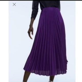 ザラ(ZARA)のザラ プリーツスカート(ひざ丈スカート)