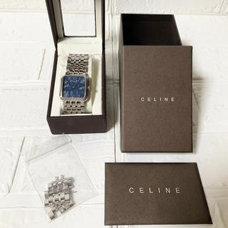 セリーヌ(celine)の美品 セリーヌ 腕時計 ネイビー (腕時計)