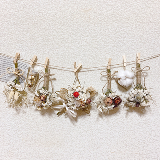 *Petit  Bouquet*様専用❗️ゴールド星*short(ドライフラワー)