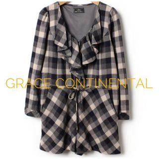 グレースコンチネンタル(GRACE CONTINENTAL)のGRACE CONTINENTAL タータンチェック サロペットオールインワン(オールインワン)