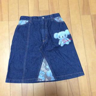 ポンポネット(pom ponette)の150 美品 ポンポネット デニムスカート(スカート)