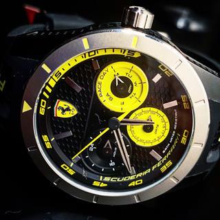 フェラーリ(Ferrari)の日本未発売‼︎ フェラーリ 正規品  Tクォーツムーブメント  ブラックダイヤル(腕時計(アナログ))