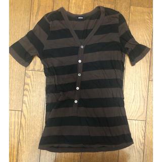ズッカ(ZUCCa)のZUCCa ボーダー斜行カットソー(Tシャツ(半袖/袖なし))
