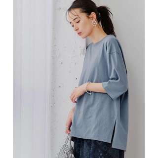 グリーンレーベルリラクシング(green label relaxing)の【green label relaxing 】BIGチュニックTシャツ6分袖(カットソー(長袖/七分))
