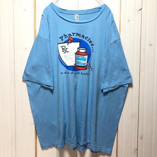 アンビル(Anvil)のanvil アンビル プリントTシャツ 水色 ゆるだぼ アメリカ古着(Tシャツ/カットソー(半袖/袖なし))