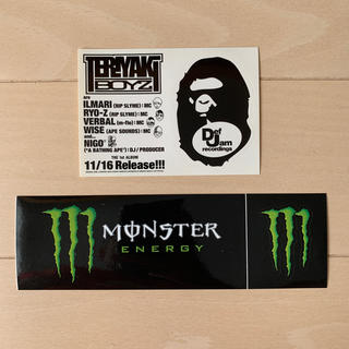 A BATHING APE - Monster Energy & A BATHING APE  ステッカーセット