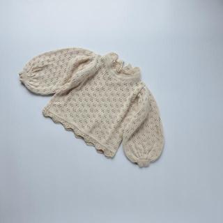Caramel baby&child  - ぽわん袖透かし編みトップス 80 90 100