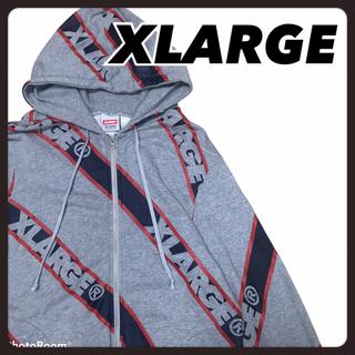 エクストララージ(XLARGE)のxlarge エクストララージ パーカー テープロゴ ダブルジップ L(パーカー)