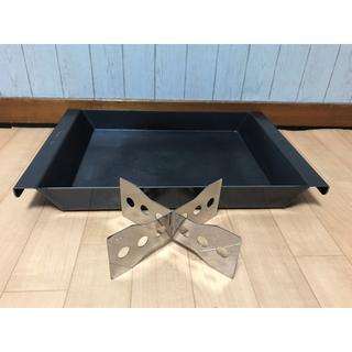 ユニフレーム(UNIFLAME)のたかたかたかたか様専用スーパーエンボス鉄板+ロゴス ステンレスダッチゴトク(調理器具)