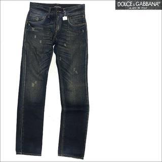 DOLCE&GABBANA - J4030 美品 ドルチェ&ガッバーナ 14GOLD プレートデニムパンツ 44