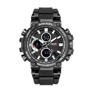 SMAEL 1803 スポーツウォッチ(ブラック・ホワイト)(腕時計(デジタル))