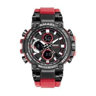 SMAEL 1803 スポーツウォッチ(レッド)(腕時計(デジタル))