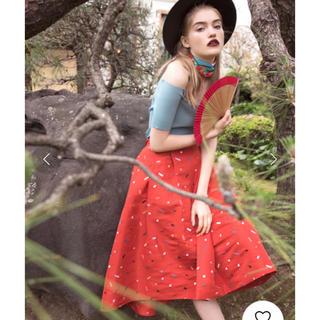 REDYAZEL - スクエア刺繍シャンタンスカート