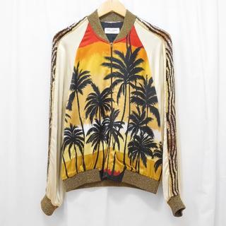 サンローラン(Saint Laurent)のSAINT LAURENT 16SS 袖スパンコール刺繍スカジャン(スカジャン)