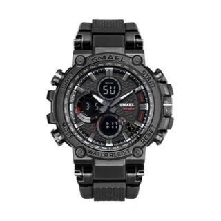 SMAEL 1803 スポーツウォッチ(ブラック)(腕時計(デジタル))