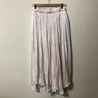 ティティベイト(titivate)のランダムヘムサテンスカート(ロングスカート)