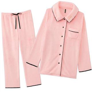 エメフィール(aimer feel)のエメフィール フリース パジャマ セット ピンクの(パジャマ)