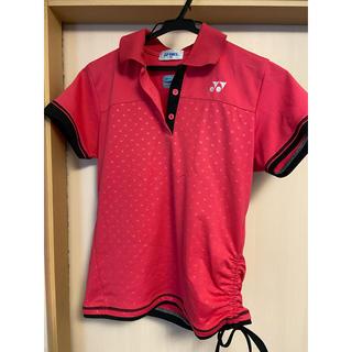 ヨネックス(YONEX)のヨネックス テニス ウェア ピンク ドット 襟付き ユニフォーム(ウェア)
