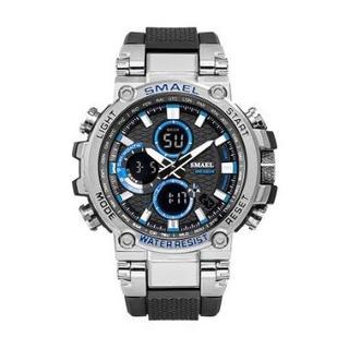 SMAEL 1803 スポーツウォッチ(シルバー・ブルー)(腕時計(デジタル))
