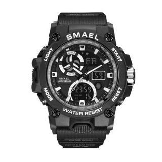 SMAEL 8011 スポーツウォッチ(ブラック・ホワイト)(腕時計(デジタル))