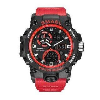 SMAEL 8011 スポーツウォッチ(レッド)(腕時計(デジタル))