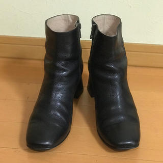フレームワーク(FRAMeWORK)のフレームワークス 黒 38 チャンキーブーツ 本革 24cm 中古(ブーツ)