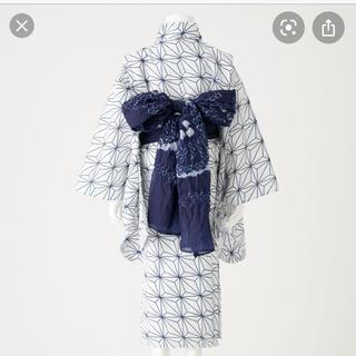 MUJI (無印良品) - 【週末削除】新品 浴衣 110 キッズ(へこ帯つき)