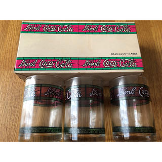 コカコーラ(コカ・コーラ)のコカコーラグラス3個セット レトロ(グラス/カップ)