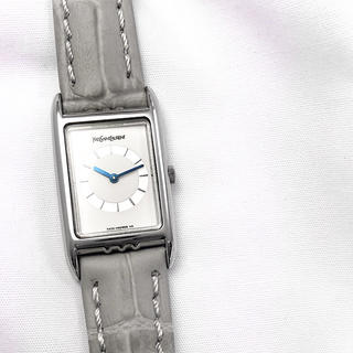 サンローラン(Saint Laurent)の【仕上済】イヴサンローラン スクエア シルバー レディース 腕時計(腕時計)