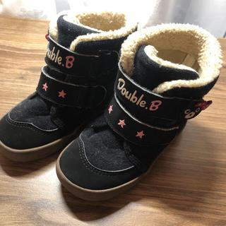 ダブルビー(DOUBLE.B)のミキハウス  ブーツ 女の子 15センチ(ブーツ)