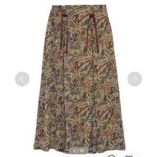 リリーブラウン(Lily Brown)のLily Brown ペイズリー柄スカート(ひざ丈スカート)